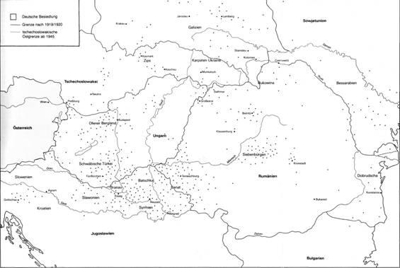 4 Deutsche Siedlungsgebiete In Südosteuropa Nach Der Türkenzeit
