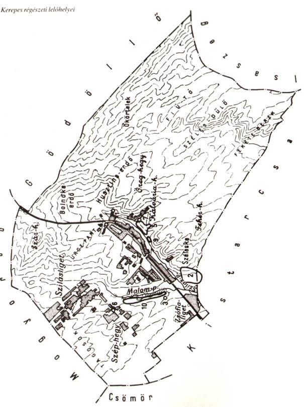 kerepes térkép ADATOK KEREPESTARCSA RÉGÉSZETÉHEZ A HONFOGLALÁSIG kerepes térkép