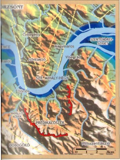 börzsöny domborzati térkép A VISEGRÁDI HEGYSÉG KIALAKULÁSA börzsöny domborzati térkép