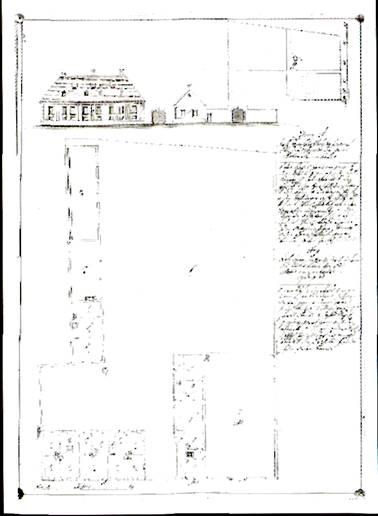 c0a505361f Visegrád legjelentősebb barokk kori épületei korabeli tervrajzokon:  plébánia épület, plébánia templom, uradalmi fogadó, uradalmi magtár