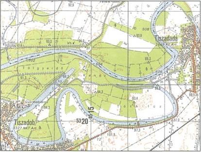 tiszadob térkép A Felső Tisza holtágai tiszadob térkép